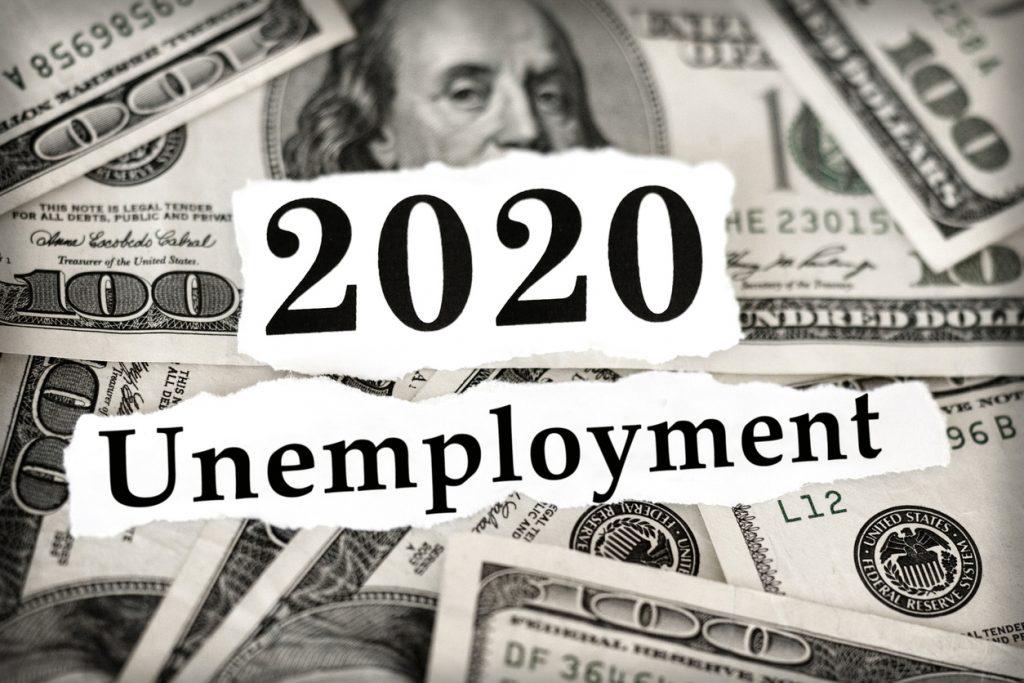Unemployment image with 100 dollar bills